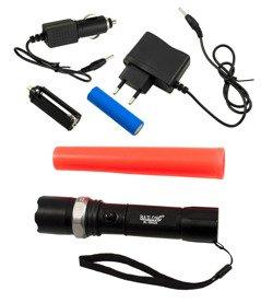 Latarka akumulatorowa SWAT 500 lm z nakładką